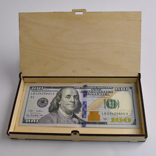 Casket for money - files for laser cutting