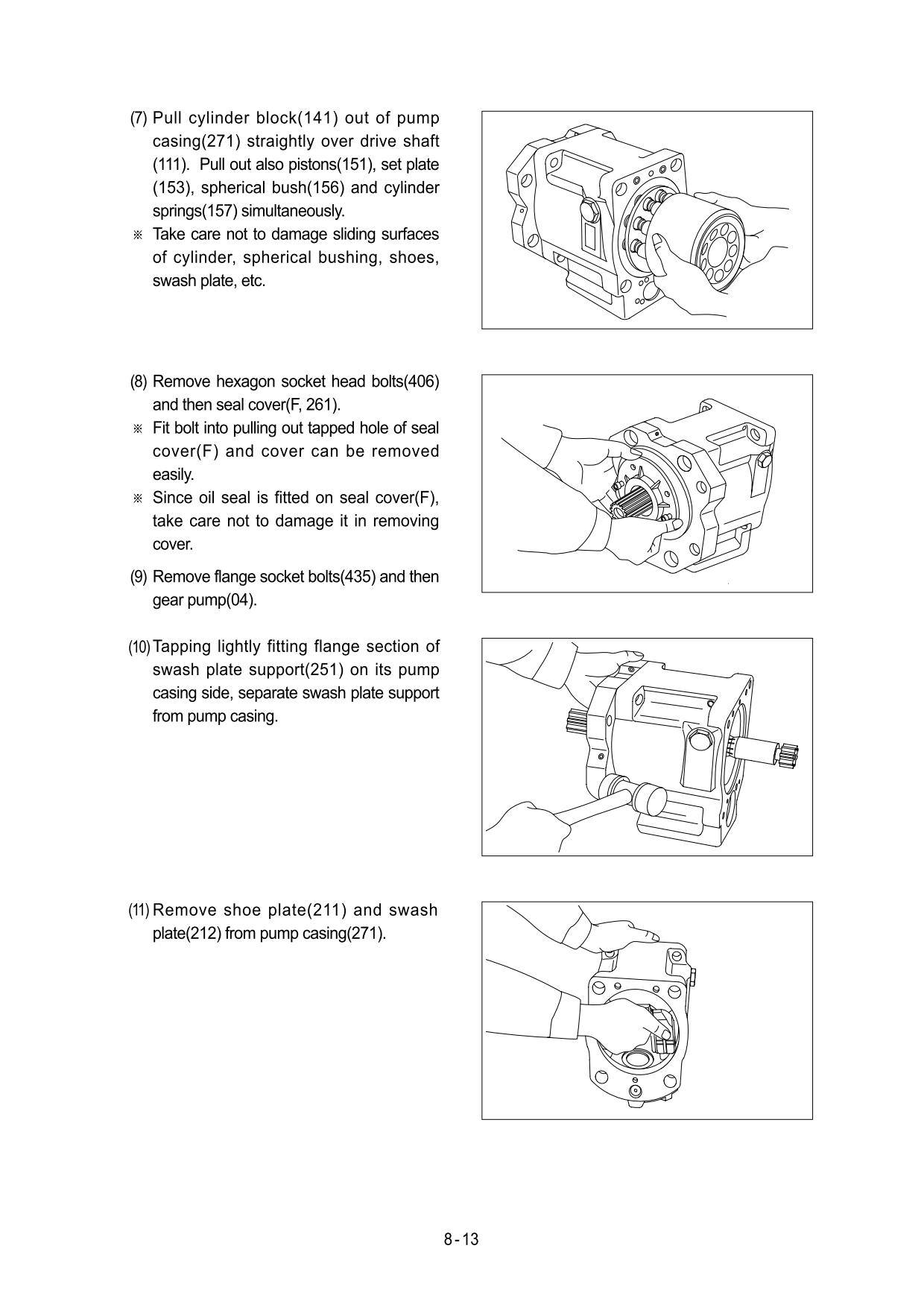 Guidelines for repair and maintenance of Hyundai R130W-3