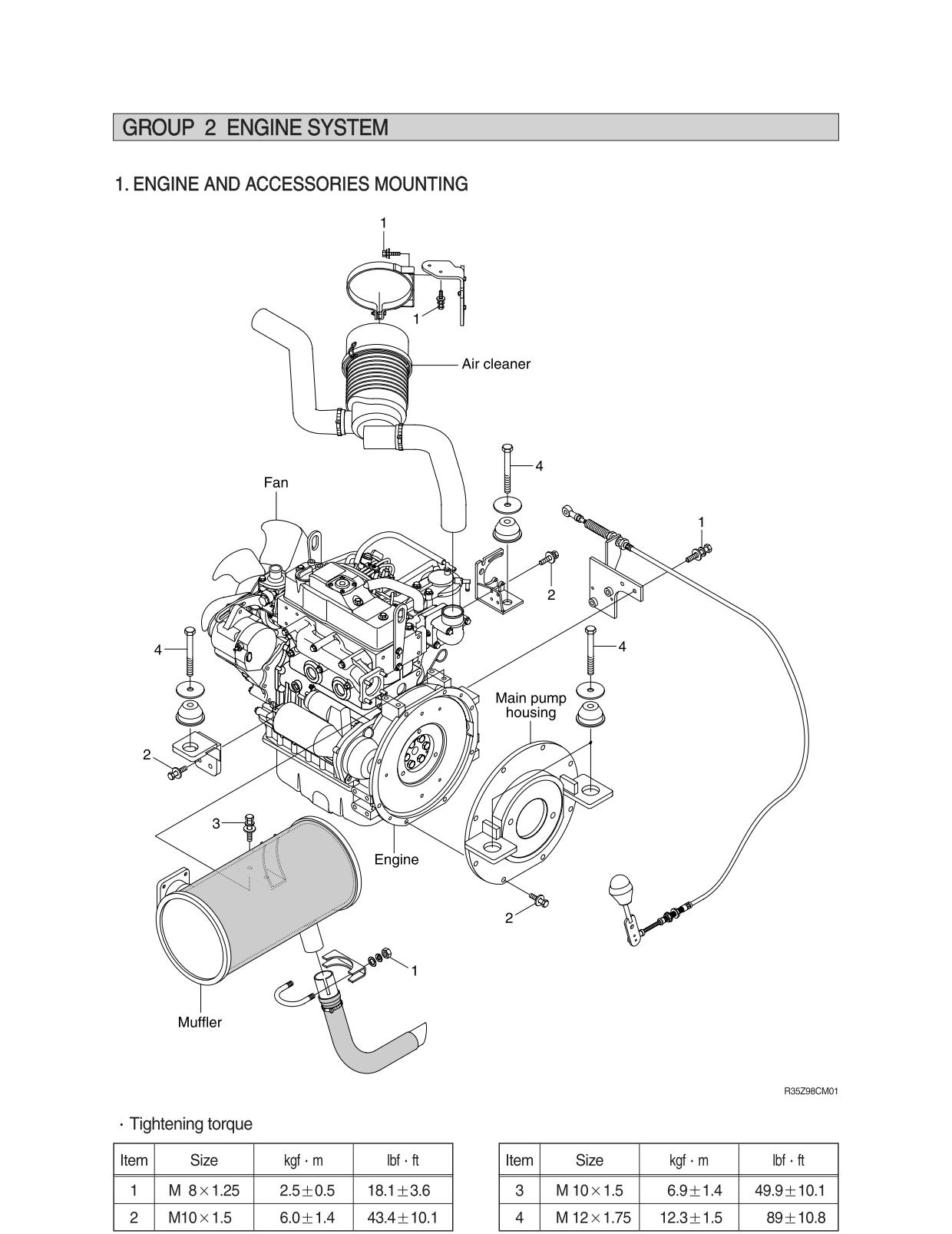 Guidelines for repair and maintenance of Hyundai R35Z-9