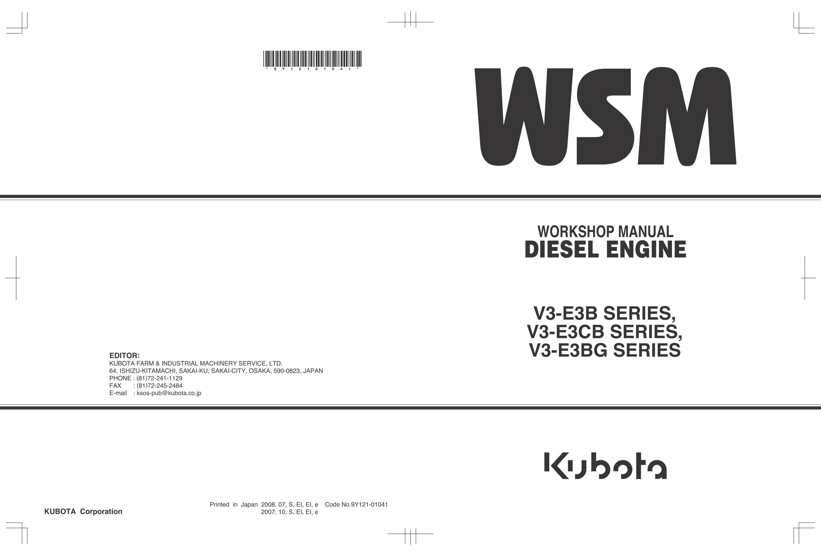 Repair and KUBOTA V3600