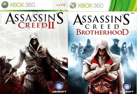 Assassins Creed 2 and AC Brotherhood for Xbox 360