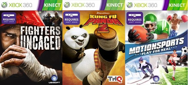 KungFuPanda 2,Motionsports,FightersUncaged для Xbox360