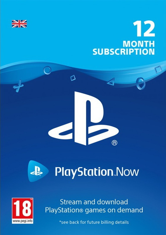 Playstation NOW 12 MONTH SUBION CODE (UK) PSN