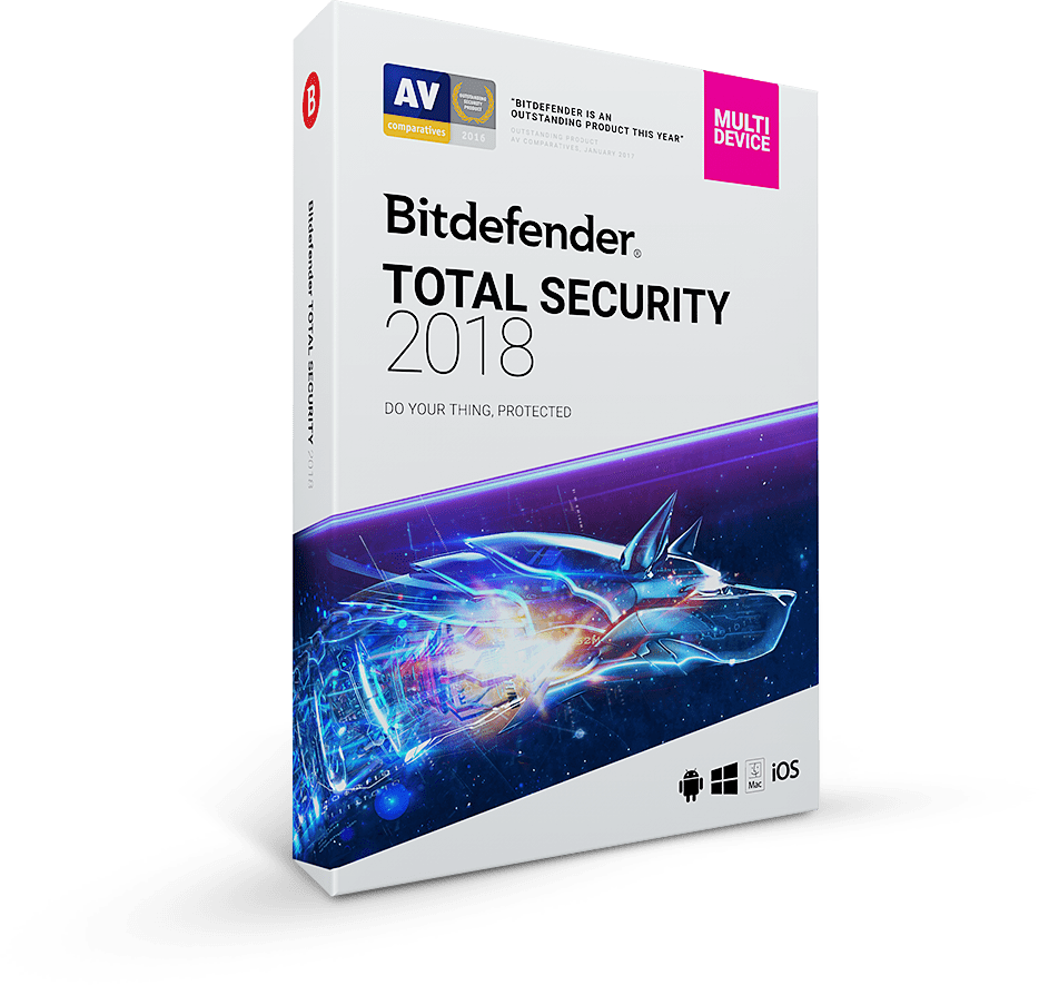 Bitdefender Total Security 2018-2019  5пк / 180 дней