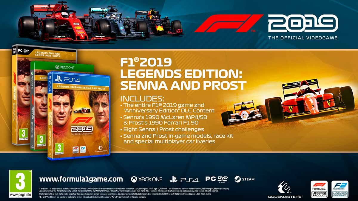 яF1 2019 LEGENDS EDITION 🏁| REG. FREE | MULTI +🎁GIFT