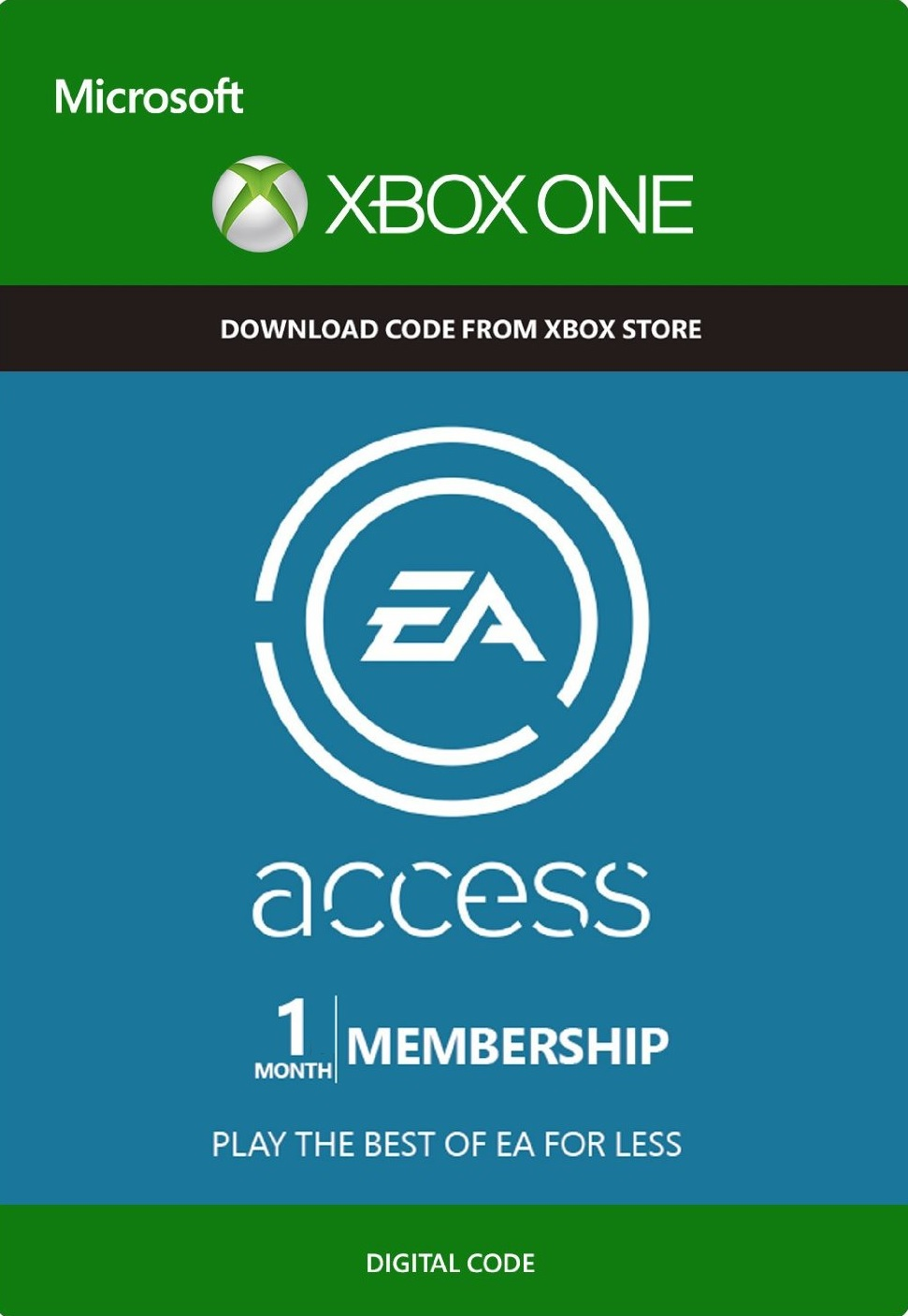 EA ACCESS - 1 MONTH (XBOX ONE) | SCAN