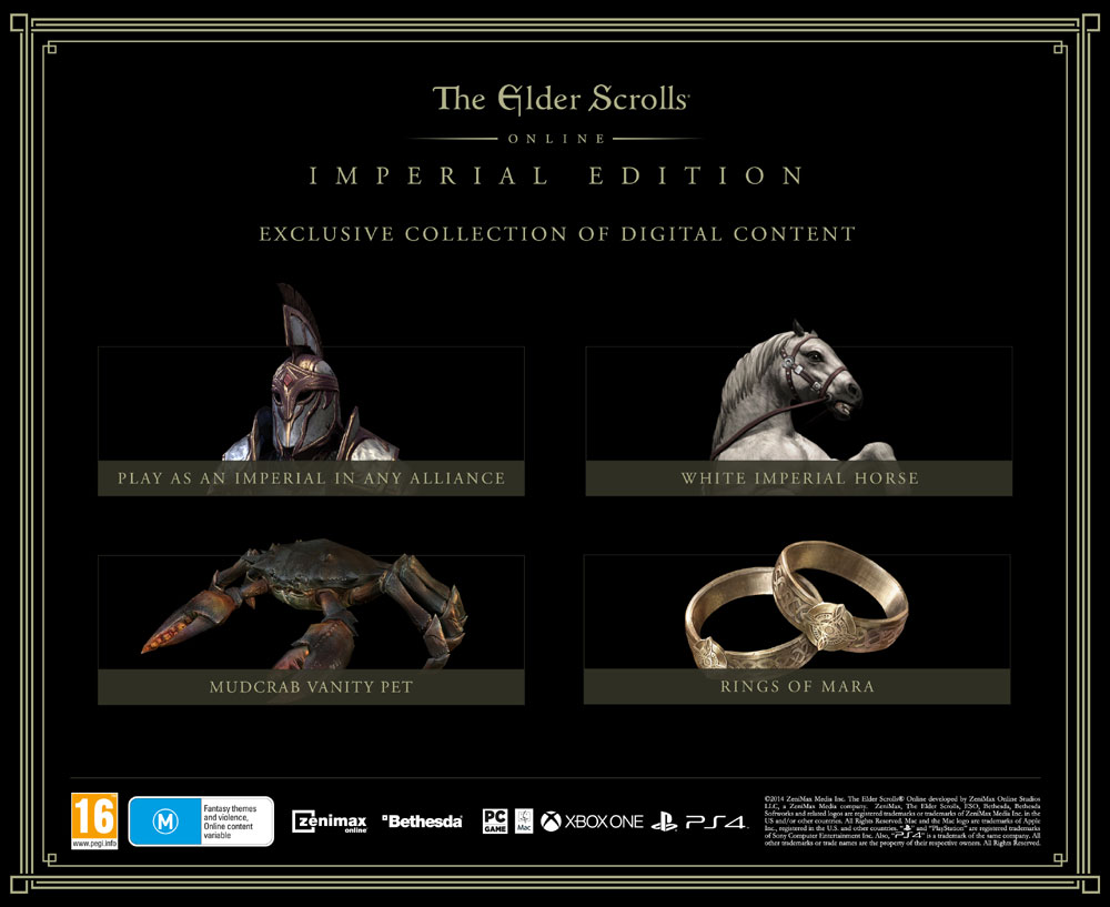 THE ELDER SCROLLS ONLINE - IMPERIAL EDITION - BOX