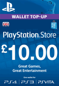PLAYSTATION NETWORK (PSN) - £10 GBP (UK) | DISCOUN