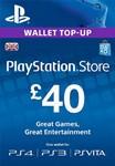 PLAYSTATION NETWORK (PSN) - £40 GBP (UK)  СКИДКИ