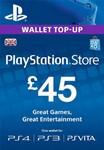 PLAYSTATION NETWORK (PSN) - £45 GBP (UK)  СКИДКИ