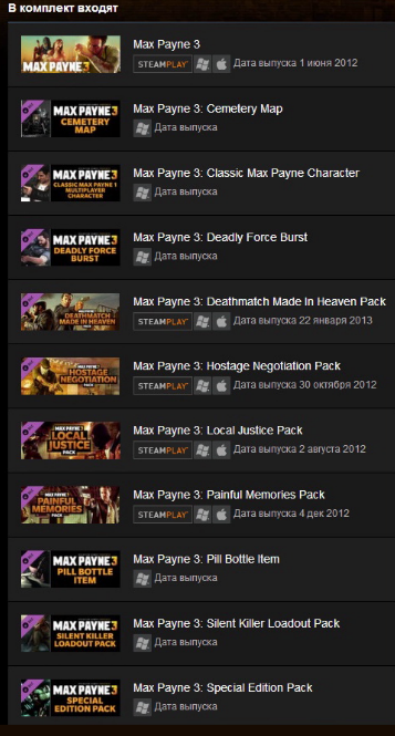 Max Payne 3 Collection (Steam Gift / RU)