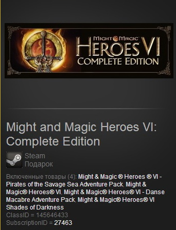 Might and Magic Heroes VI: Complete- Gift / Region Free