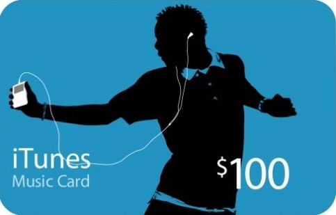 iTunes Gift Card $100 USA Card Photo