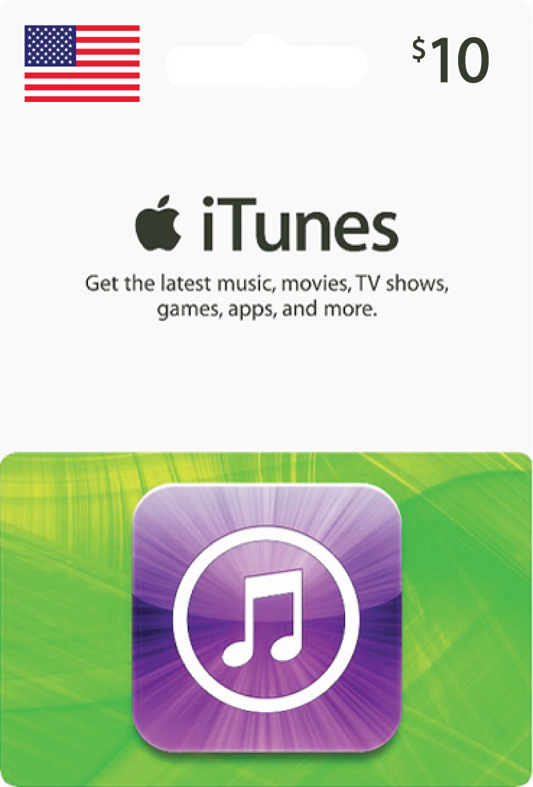 iTunes Gift Card $10 USA Card Photo