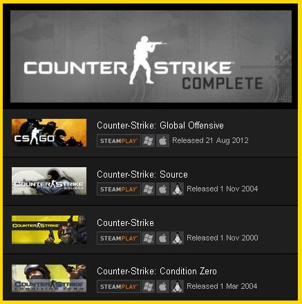 Counter-Strike (CS) Complete (Steam gift / RU + UA + CI