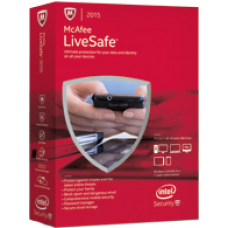 McAfee LiveSafe 2017 1 user 1 year unlimited devices