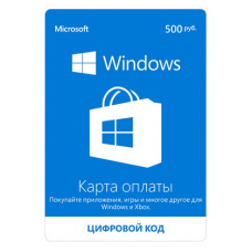 Payment card Xbox Live and Windows Store 500 rub.