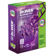 Antivirus Dr.Web 2 years 1 PC + 1 mob. EXTENSION