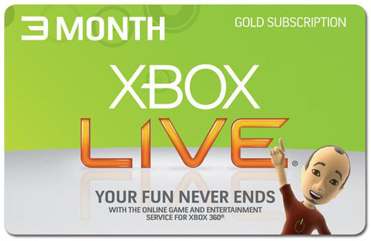 Xbox Live Gold - 3 month key (worldwide\region free)