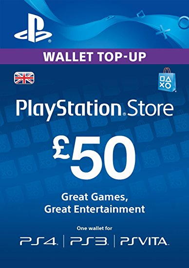 PlayStation Network PSN 50 GBP (UK) + СКИДКИ