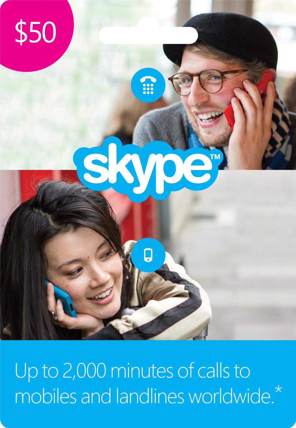 Skype Credit Gift Card 50$ + DISCOUNTS