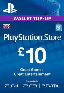 PlayStation Network PSN 10£ GBP (UK) + DISCOUNTS