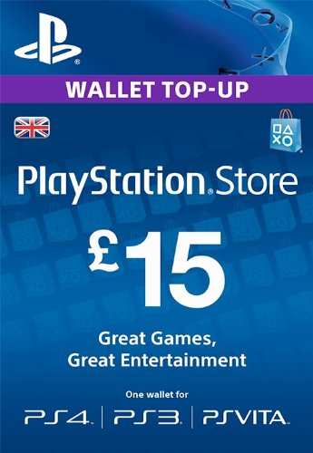 PlayStation Network PSN 15£ GBP фунтов (UK)+СКИДКИ