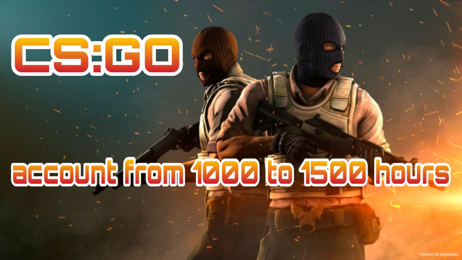 CS:GO account 🔥 from 1000 to 1500 hours ✅ First mail