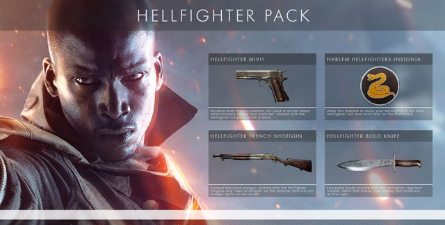 Battlefield 1-Hellfighter Pack DLC (Origin/Region Free)