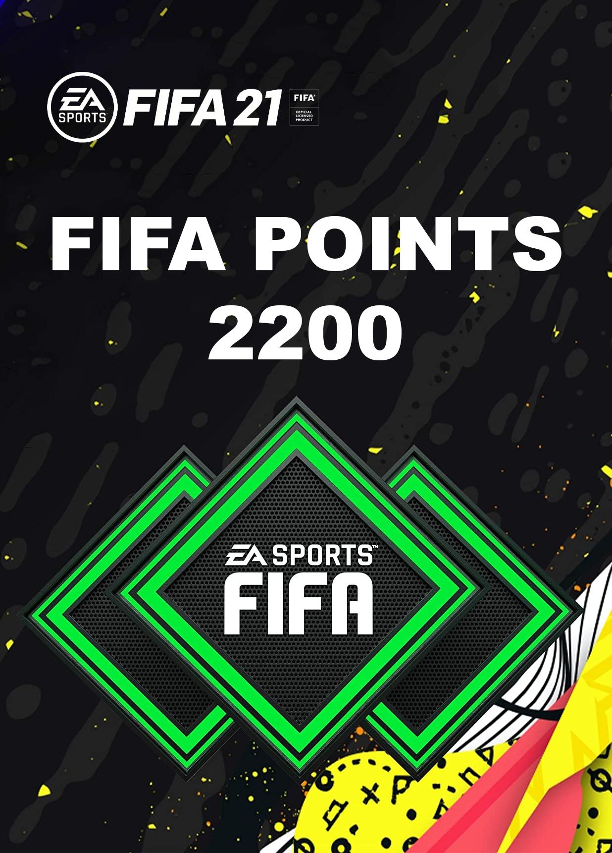 fifa 21 - 2200 fut points ✅(origin key)+podarok 1349 rur