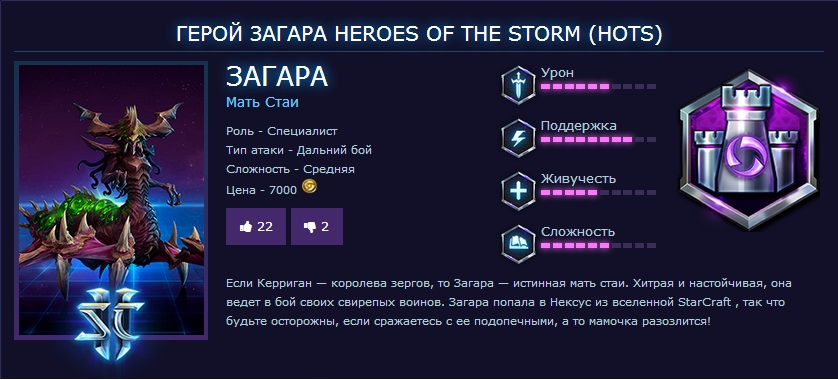 HERO ZAGARA ДЛЯ HEROES OF THE STORM (Region Free)
