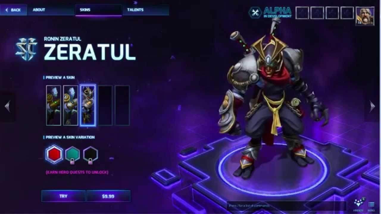 Heroes of the Storm - Skin Ronin Zeratul (Region Free)