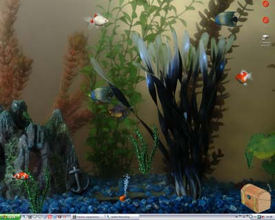 Living 3D Virtual Aquarium for your desktop