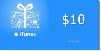 10$ USA iTunes Gift Card СКИДКИ