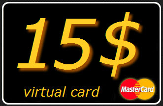 15 $ USD virtual card MasterCard (A statement)