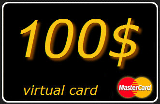 100 $ (USD) virtual card MasterCard (A statement)