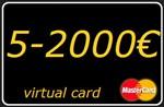 5-1500 € (EUR) виртуальная карта Mastercard (выписка)