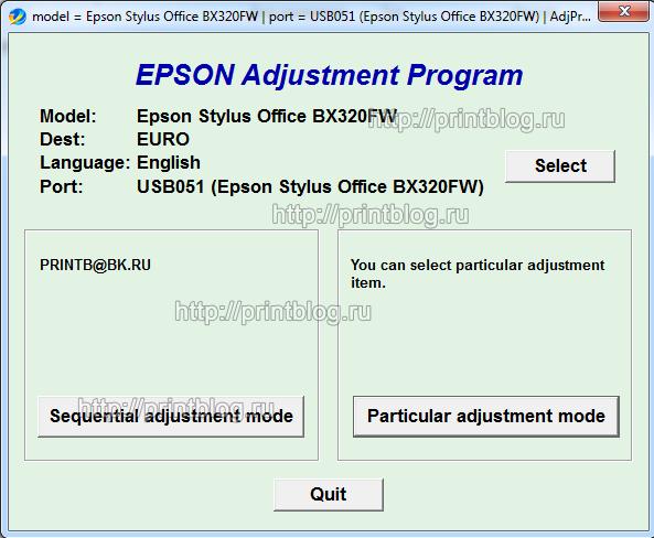 Epson adjustment program l222
