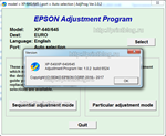 Adjustment program Epson XP-540, XP-640, XP-645 (Сброс)