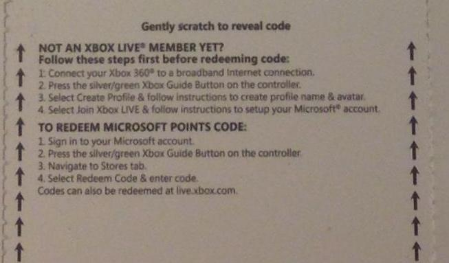 Xbox Live - 1600 MS Points (USA) - Фото карточки