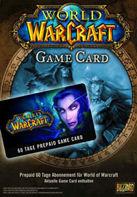 WOW. 60-day Game Card (European version)