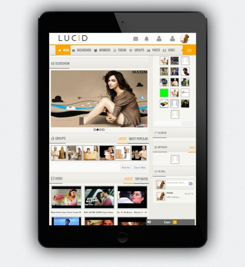 LUCID RESPONSIVE THEME with translatable landing page
