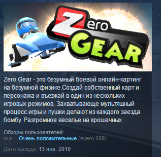 Zero Gear  (Steam Key / ROW / Region Free)