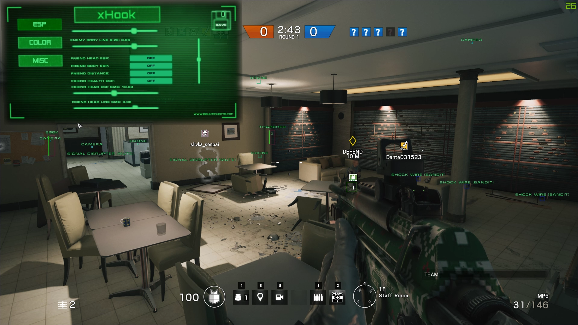 rainbow six cheat
