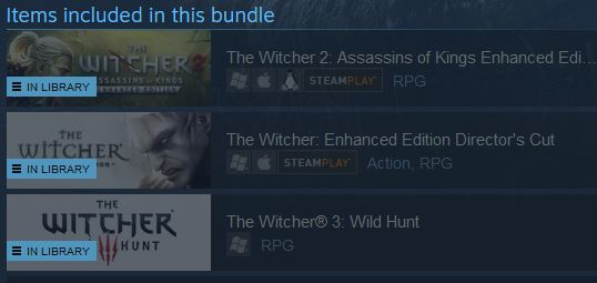 THE WITCHER 3 TRILOGY PACK (Steam)(Region Free)