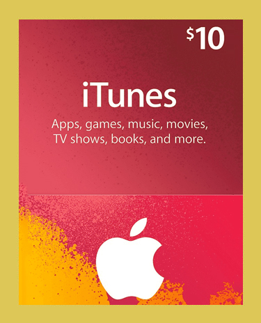 iTunes 10 USD GIFT CARD (Appstore)(US)