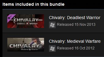 CHIVALRY: COMPLETE PACK (Steam)(Region Free)