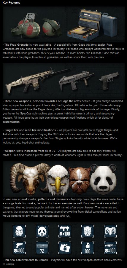 PAYDAY 2: GAGE WEAPON PACK 01