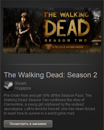 The Walking Dead: Season 2 (Steam Gift/RU-CIS)