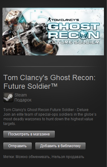 Tom Clancys Ghost Recon: Future Soldier Deluxe (Steam)